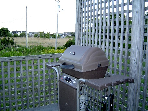 Outdoor Barbecue Grill On the Deck