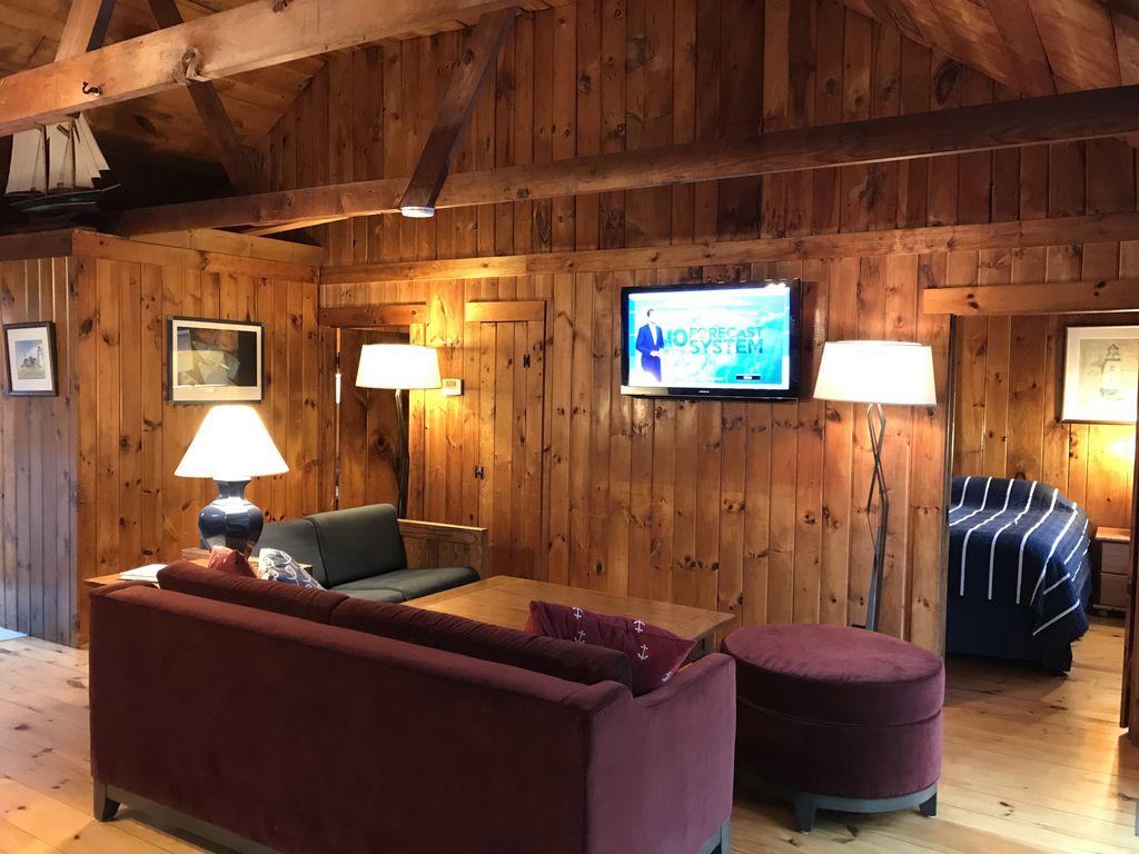 Living Room - Queen Burgundy Sofa Bed